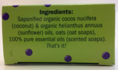 Ingredients Ithaca Soap Organic Soap http://www.17thcenturysuds.com/collections/soap-bar/products/lavender-mint-bar-soap