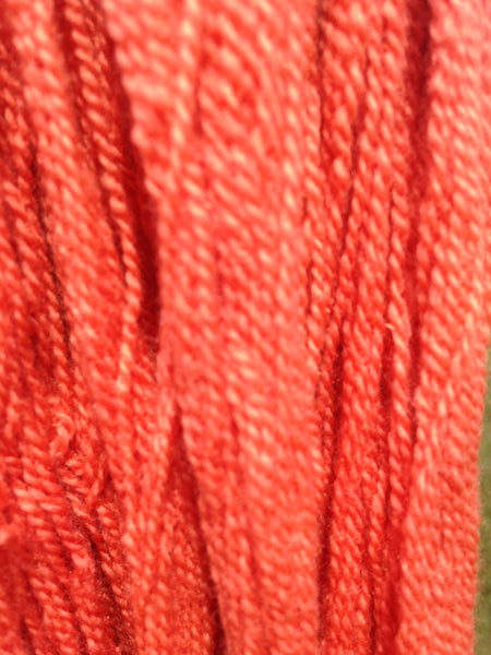 Patagonian 100% Merino Fingering Red Orange