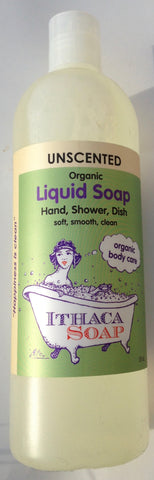 Ithaca Soap Liquid Unscented organic
