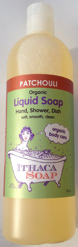 Ithaca Soap Liquid Patchouli organic
