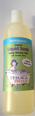 Ithaca Soap Liquid Peppermint organic