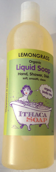 Ithaca Soap Liquid Lemongrass organic