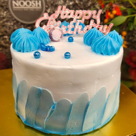 BLUEBERRY CREAM DESIGN CAKE