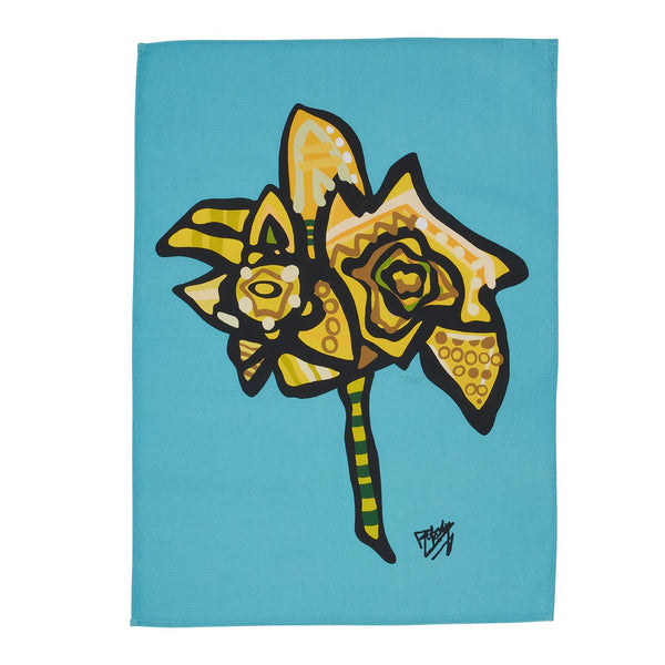 Daffodil Tea Towel designed by Ben Mosley