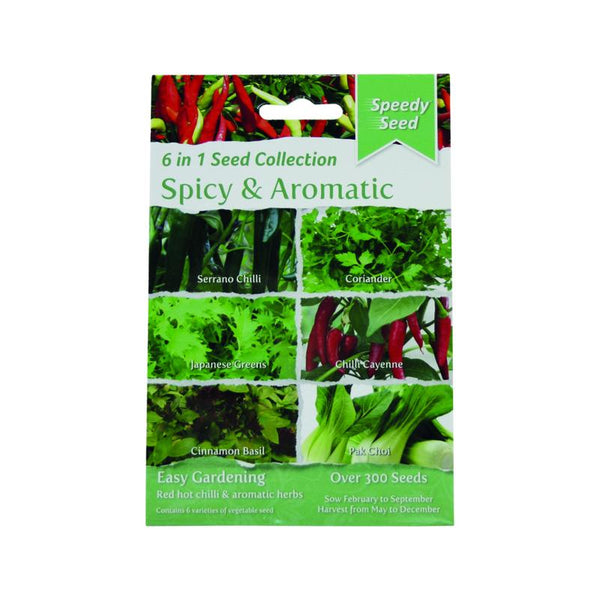 6 in1 Spicy & Aromatic Seed Pack