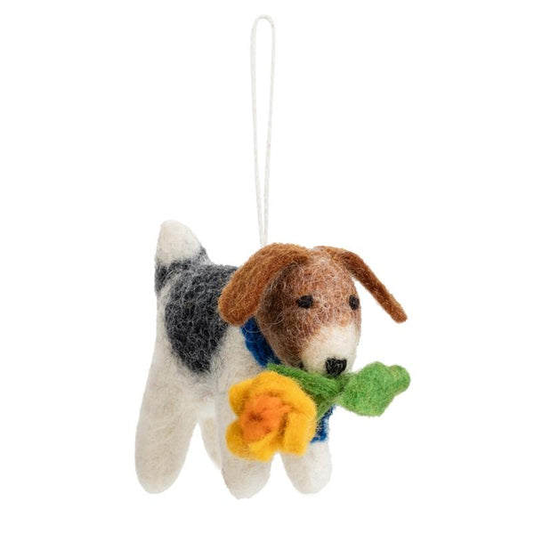 Marie Curie Felt Dog Hanging Decoration