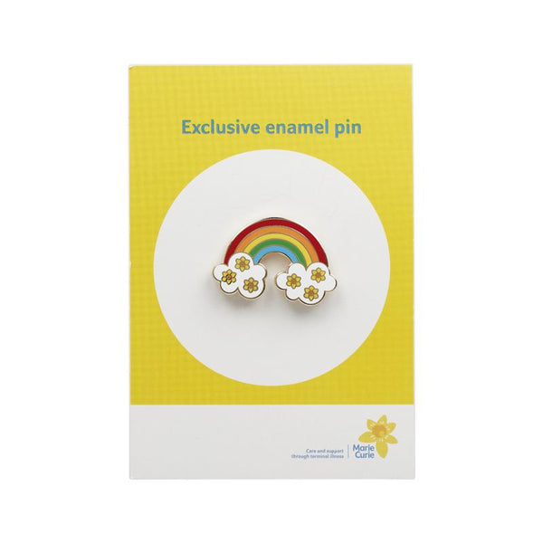 Rainbow and Clouds Pin
