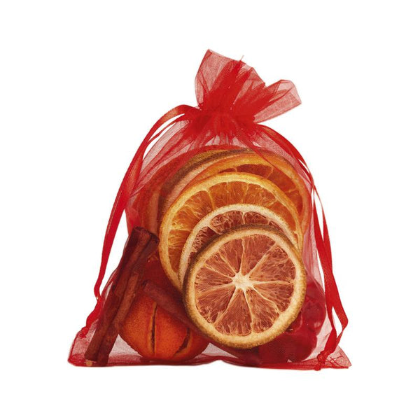 Scented Fruit in Red Organza Bag