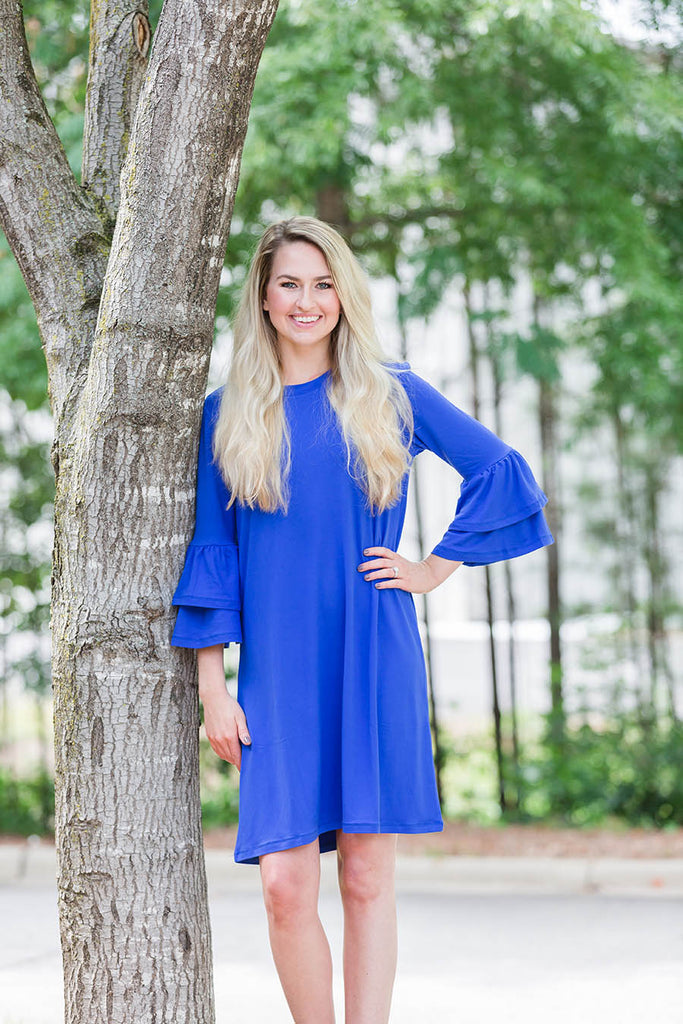 Ruffle Sleeve Tunic Dress