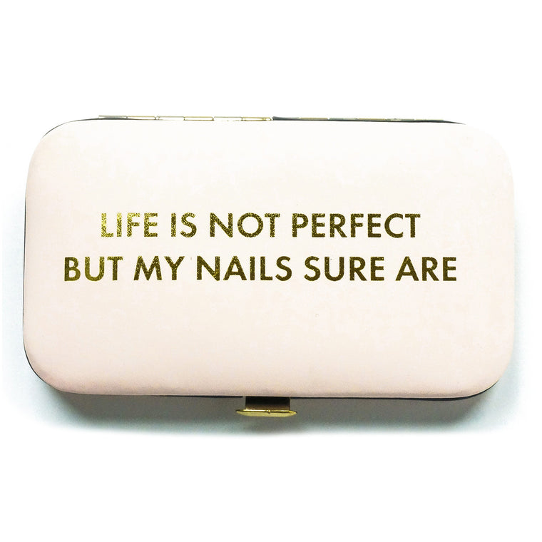 Manicure Set Life Not Perfect Pink