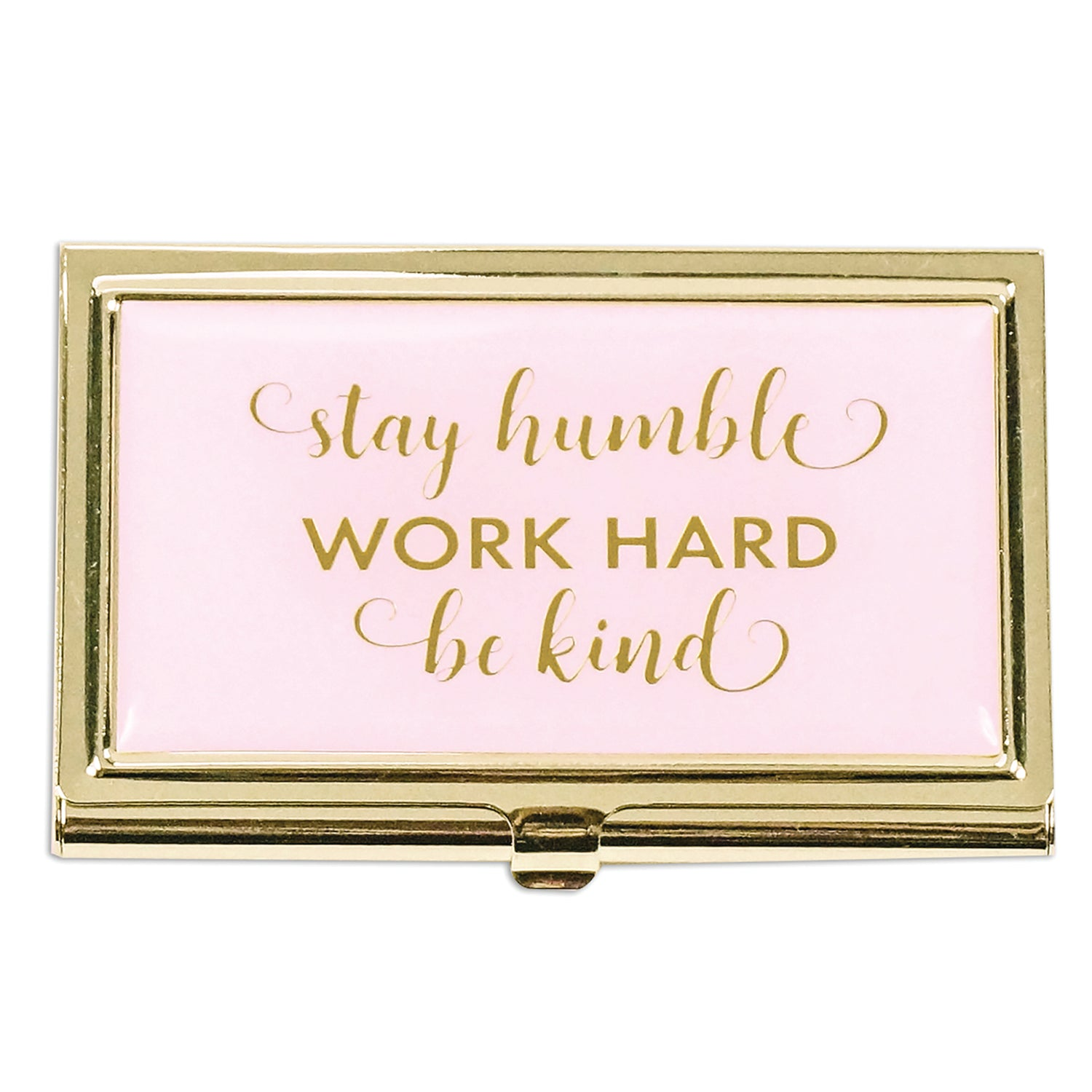 Business Card Holder Stay Humble Work Hard - Mary Square Wholesale ...