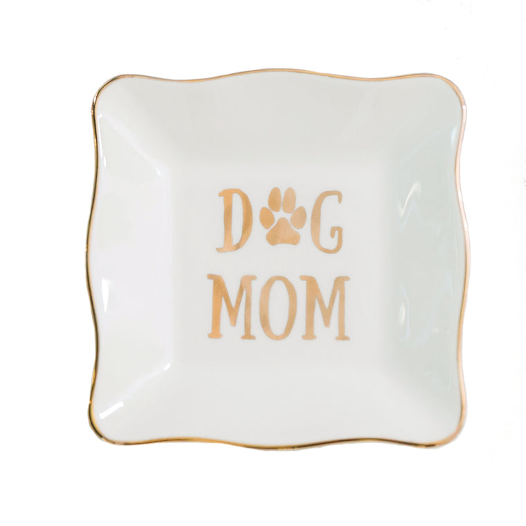 Ceramic Tray Dog Mom