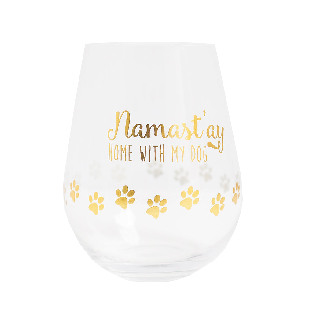 Wine Glass Namast'ay