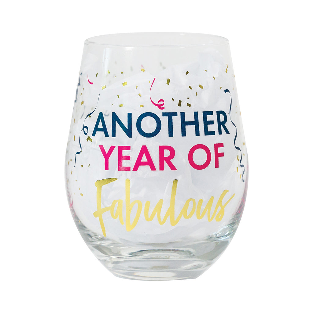 Glass Stemless Wine Another Year