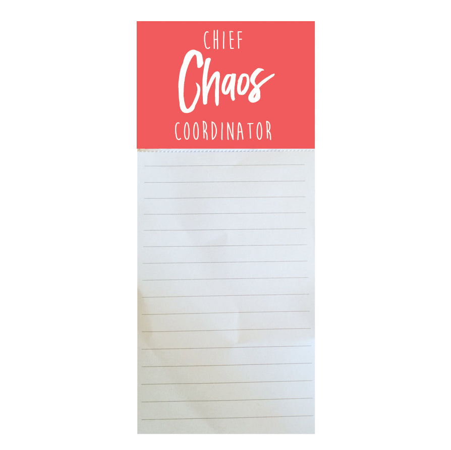 Magnetic Notepad Chief Chaos Coordinator