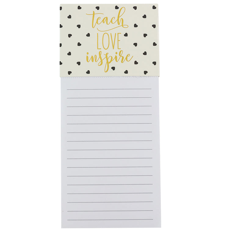 Magnetic Notepad Teach Love Inspire