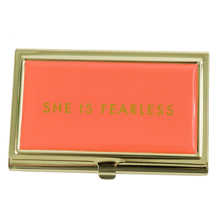 Business Card Holder She is Fearless