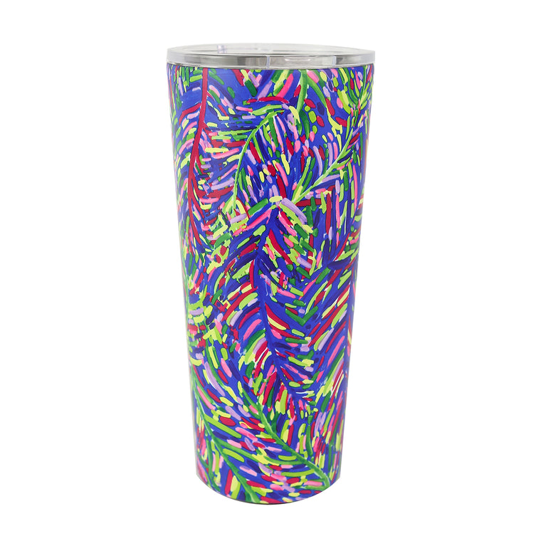 Resort Collection | Stainless Large Tumbler | Blue Frond