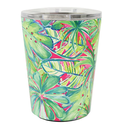 Resort Collection | Stainless Coffee Tumbler | Green Palm