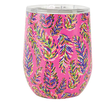 Resort Collection | Stainless Drink Tumbler | Pink Frond