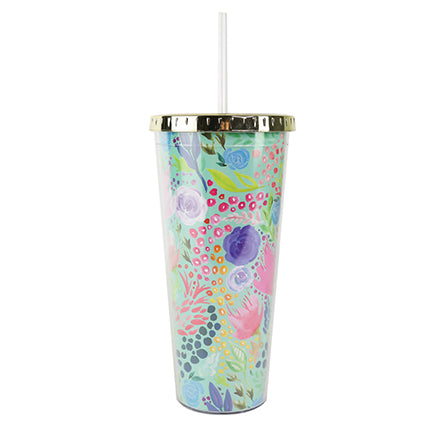 Resort Collection | Straw Tumbler | Tropical Mix