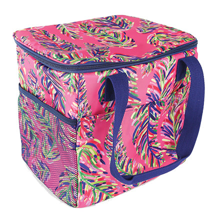 Resort Collection Cooler Tote Pink Frond