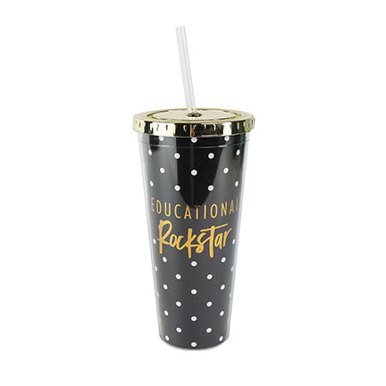 Straw Tumbler Educational Rockstar