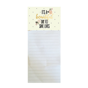 Magnetic Notepad Beautiful Day