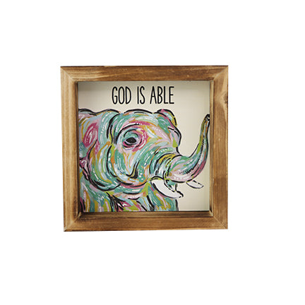Wood Plaque | God Is Able