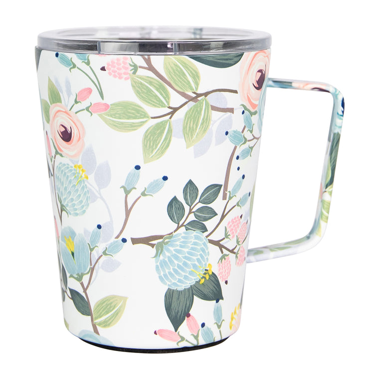 Stainless Coffee Tumbler Peach Floral