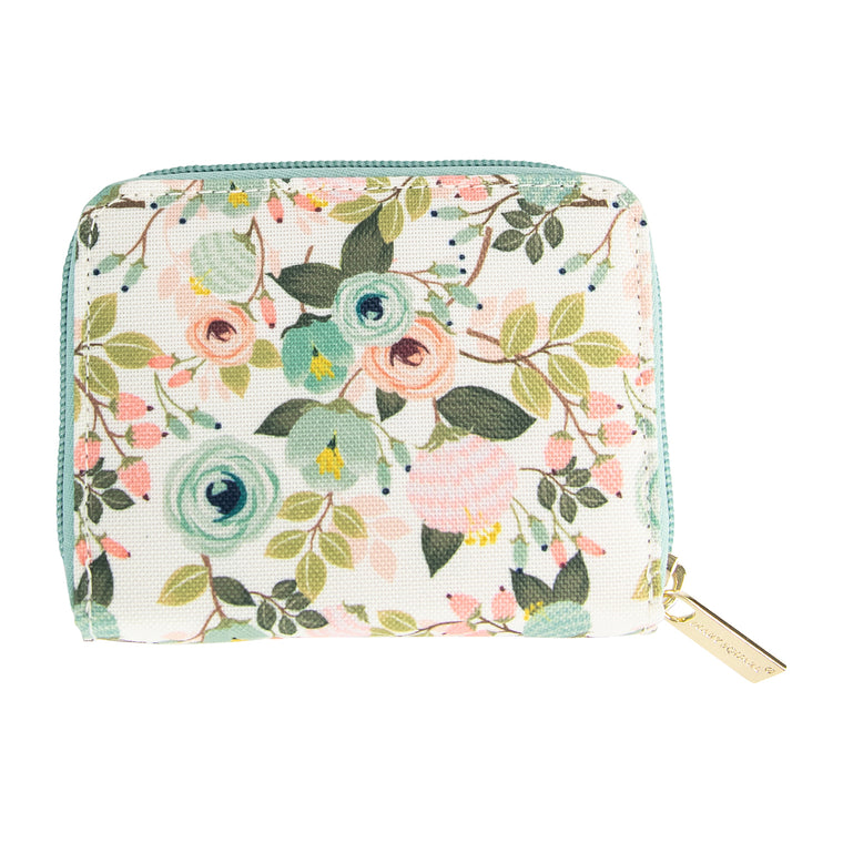 Accordion Wallet Peach Floral