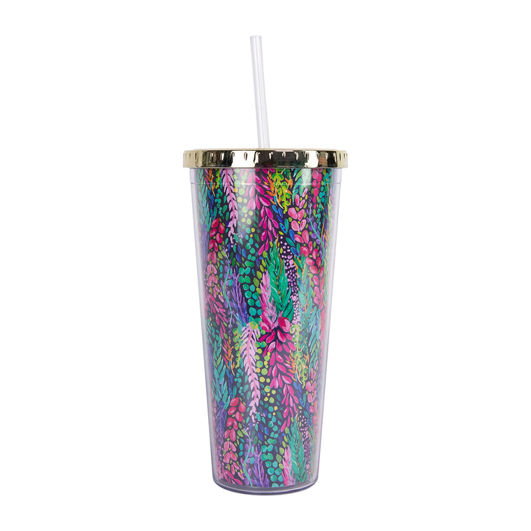 Straw Tumbler | Wisteria Waves