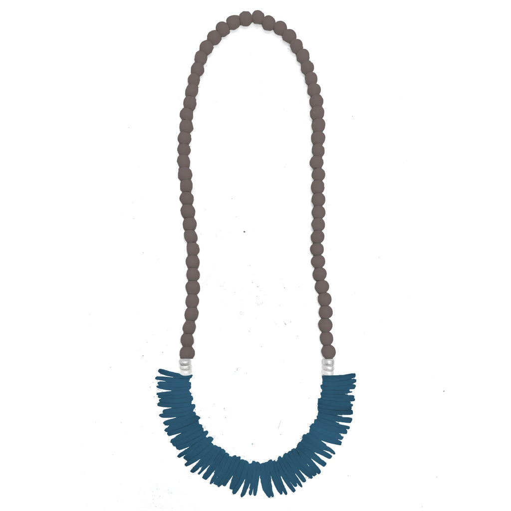 Barbados Necklace | Dark Brown | Silver