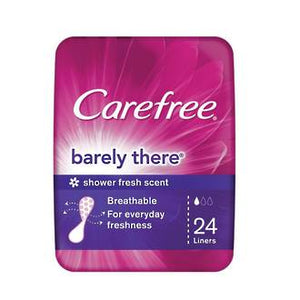 CAREFREE PANTY LINERS BARELY THERE 24 PACK