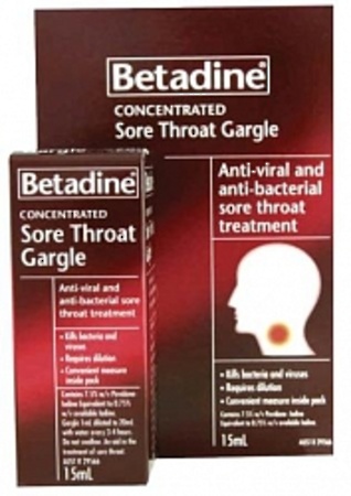Betadine SORE THROAT Concentrated Gargle 15ml