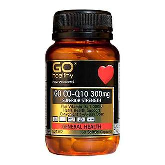 GO CO-Q10 300MG PLUS VITAMIN D 30 CAPSULES