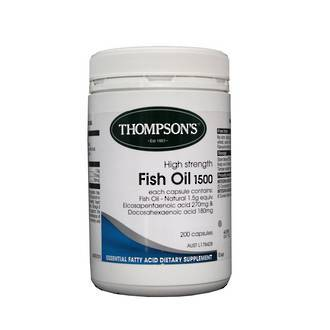 THOMPSON'S HIGH STRENGTH FISH OIL 1500MG 200 CAP