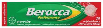 BEROCCA PERFORMANCE EFFERVESCENT ORIGINAL 15 TABS