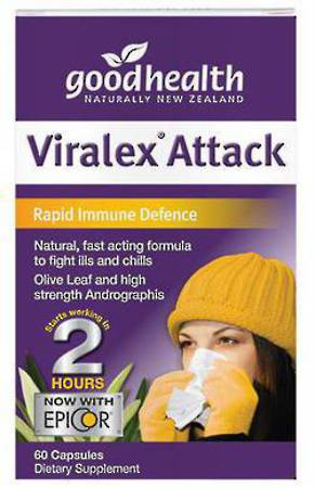 GOOD HEALTH VIRALEX ATTACKS 60 CAPSULES NEW
