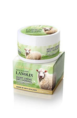 WILD FERNS LANOLIN NIGHT CREME(DRY TO NORMAL) 100G
