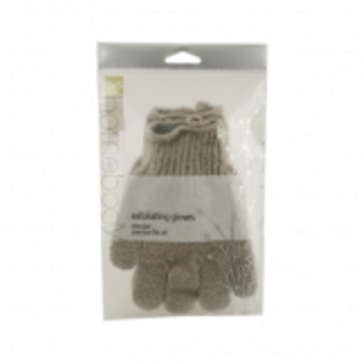 QVS HOMEBODY EXFOLIATING GLOVES - PEBBLE