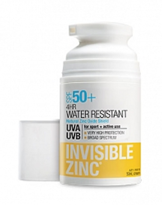 INVISIBLE ZINC 4HR WATER RESISTANT SPF 50+ 50ML SUNSCREEN
