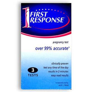 FIRST RESPONSE PREGNANCY TEST 3 TESTS
