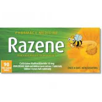 Razene 10mg Antihistamine Tablets 90