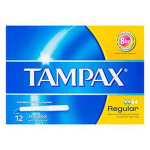 TAMPAX APPLICATOR TAMPONS REGULAR 12PACK