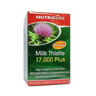NUTRA-LIFE MILK THISTLE 17000 PLUS 60 CAPSULES