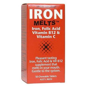 IRON MELTS CHEWABLE TABLETS 50 TABLETS