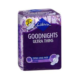 LIBRA GOODNIGHTS ULTRA THIN WINGS 10 PACK