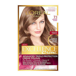 L'OREAL EXCELLENCE CREME 7.1 - DARK ASH BLONDE