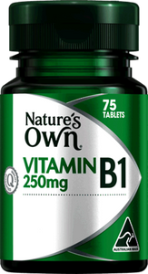 NATURE'S OWN Vitamin B1 250mg - 75 TABLETS